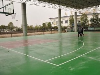 江西省 温圳梨温高速公路公司 硅PU篮球场